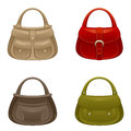 Women bag set on a white background Royalty Free Stock Photos