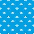 Women beach hat pattern seamless blue