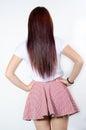 Women behind long hair woman standing Stock Photography