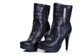 Women boots Black Royalty Free Stock Photo