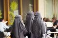 Women in Burqa - Kuala Lumpur - Malaysia Royalty Free Stock Photo