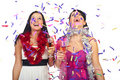 Women celebrate new year party Royalty Free Stock Photo