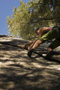 Women climbing in Yosemite Royalty Free Stock Photo