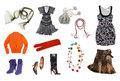 Women clothes set Royalty Free Stock Photos
