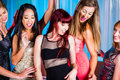 Women dancing in discotheque or club Royalty Free Stock Photo