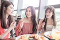 Women dine in restaurant Royalty Free Stock Photo