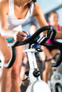 Women doing sport spinning Royalty Free Stock Photo