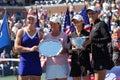 Women Doubles winners US Open 2008 (4) Stock Photos