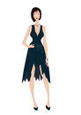 Women in evening dress an illustration of woman Stock Photo