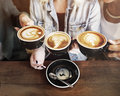 Women Friends Enjoyment Coffee Times Concept Royalty Free Stock Photo