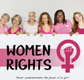 Women Girl Power Feminism Equal Opportunity Concept Royalty Free Stock Photo
