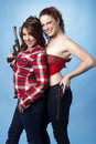Women with guns Royalty Free Stock Photography