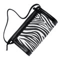 Women handbag zebra lines isolated white Royalty Free Stock Photography