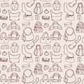 Women handbags. Seamless pattern. Royalty Free Stock Photo