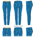 Women jeans pants and shorts