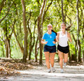 Women jogging outdoors Stock Photography