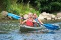 Women kayaking