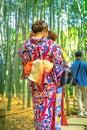 Kimono women in Hokoku-ji