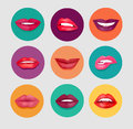 Women Lips Set