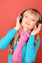 women listening music Royalty Free Stock Photo