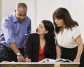 Women and Man Working in Office Royalty Free Stock Photo