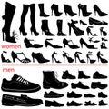 Mujeres y hombres zapatos