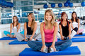 Women in a pilates class Stock Photos