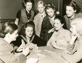 Women playing cards Royalty Free Stock Photo