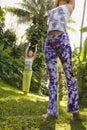Women practicing yoga. Stock Photo