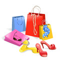 Women purchase shopping illustration Stock Image