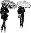 Women In The Rain