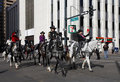 Women riders in national western stock show parade at the annual nwss kick off january downtown denver th street Stock Image