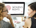 Women Rights Female Woman Girl Lady Feminism Concept Royalty Free Stock Photo