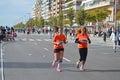 Women runners in the santa pola marathon Stock Photo
