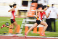 Women's 4x400 Meters (Blurred) Stock Photography
