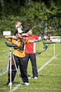 Women's Archery Action Royalty Free Stock Photo