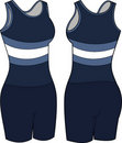 Women's Athletic Wear Illustration Stock Photography