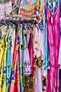 Women's colorful summer dresses Stock Image