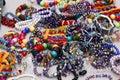 Women's costume jewelry Royalty Free Stock Photo