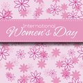 Women's Day card Stock Image
