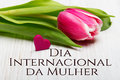 Women`s Day Card With Portugue...
