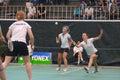 Women´s dobra o badminton Imagens de Stock Royalty Free