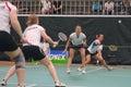 Women´s dobra o badminton Imagem de Stock