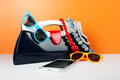 Women's Fashion Accessories. Your style - sunglasses, handbag an Royalty Free Stock Photo