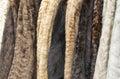 Women's fur coats Royalty Free Stock Photo