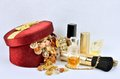 Women's jewelry, perfumes and cosmetics Royalty Free Stock Photo