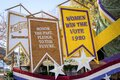 Women`s Right to Vote Centennial Tournament of Roses float