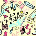 Women`s seamless bright background from accessories girls