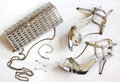 Women's set of fashion accessories in silver color
