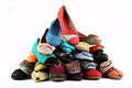 Women s shoes lot of various low cut Royalty Free Stock Photo